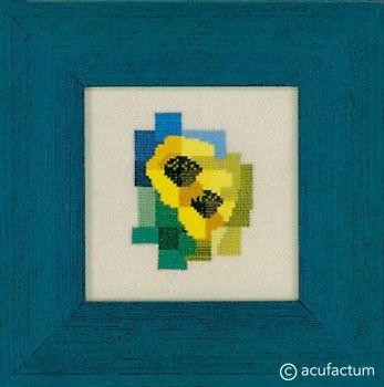 Stickpackung: Sonnenblumen