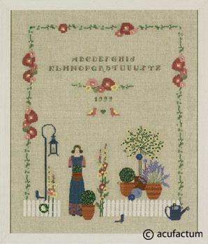 Flora ABC Mustertuch - 2387