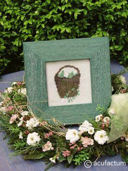 Stickpackung Mini-Gartenromantik Korb