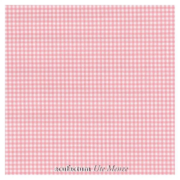 BW-Stoff rosa-weiß kariert - 392-W908600