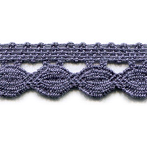 Klöppelspitze Marga lila 20 mm breit