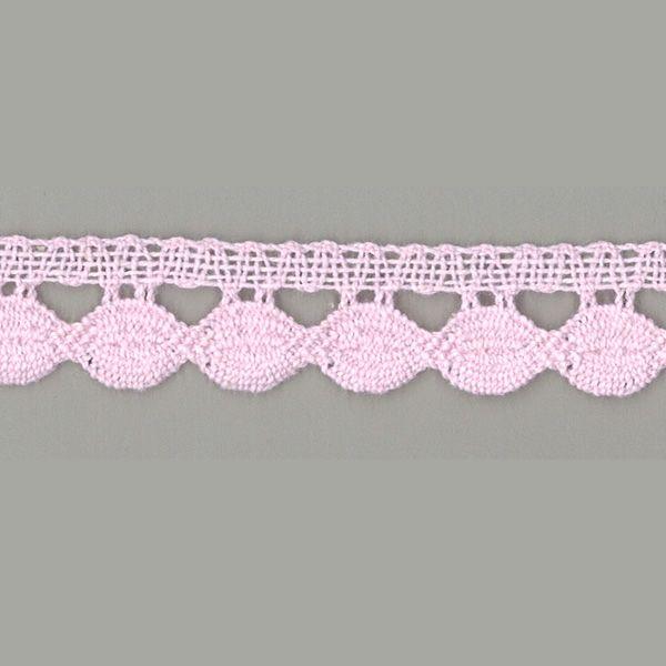 Klöppelspitze Marga rosa 20 mm breit