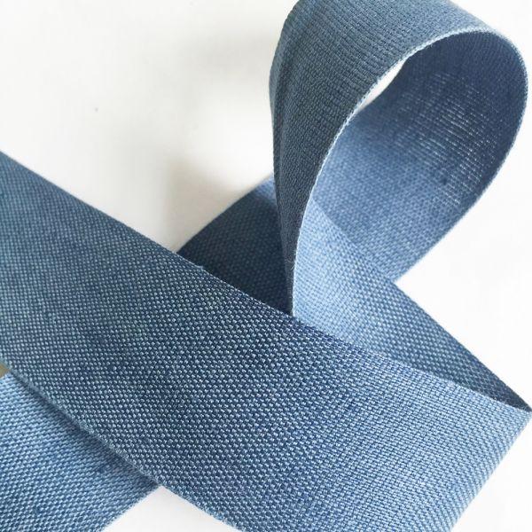 Webband Batiste graublau 30mm breit