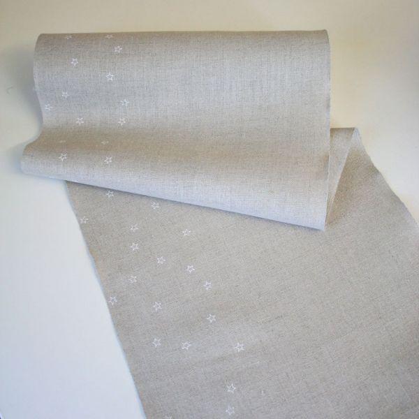 Leinenband Sternenhimmel ungebleicht 30 cm breit