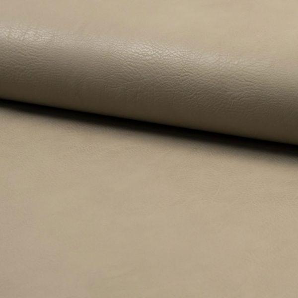 Kunstleder elastisch - graubeige hell