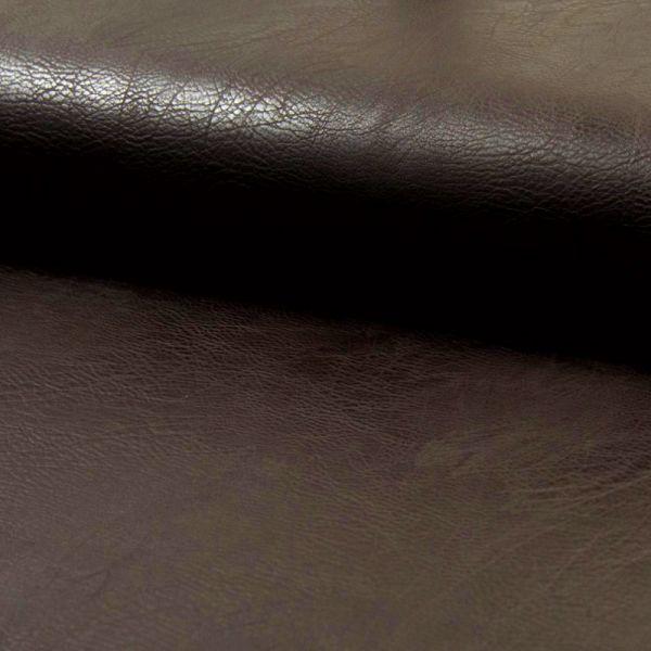 Kunstleder elastisch - dunkelbraun