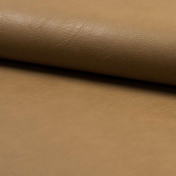 Kunstleder elastisch - hellbraun