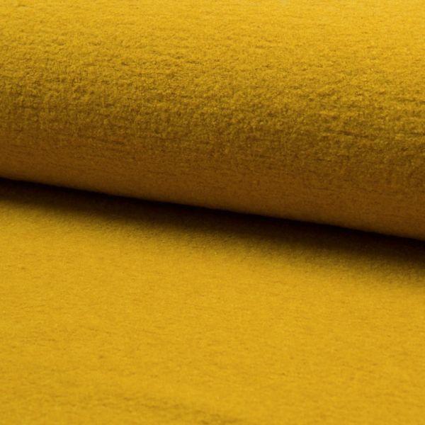 gekochte Wolle, 140 cm breit, senf