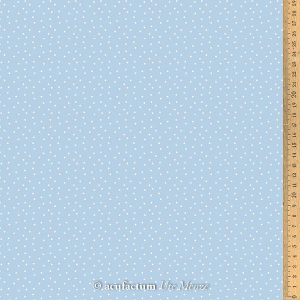 Baumwollstoff Tupfen blau-weiß 155 cm breit