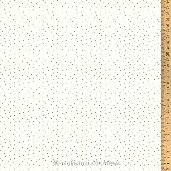 Baumwollstoff Tupfen weiß-grün  155 cm breit