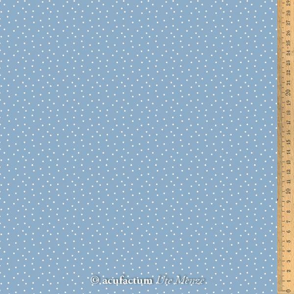 Baumwollstoff Tupfen graublau-weiß  145 cm breit