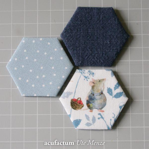 Baumwollstoff Tupfen graublau-weiß - 3523-480