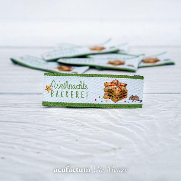 Webetikett Weihnachtsbäckerei