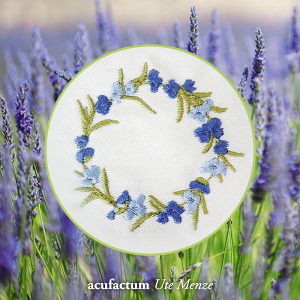Stickdatei  Lavendelkranz