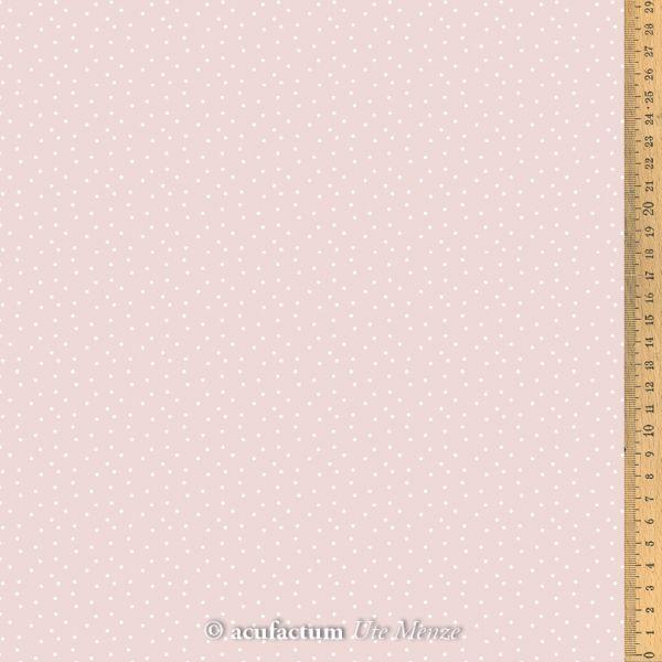 Baumwollstoff Tupfen altrosa-weiß   145 cm breit