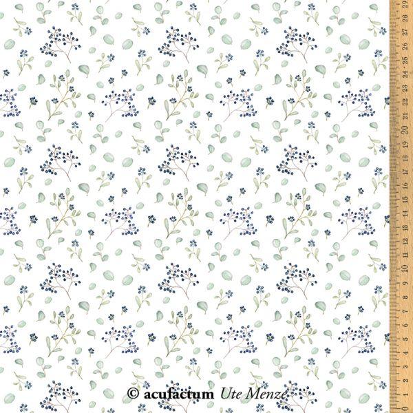 Baumwollstoff Blaue Beere  145 cm breit