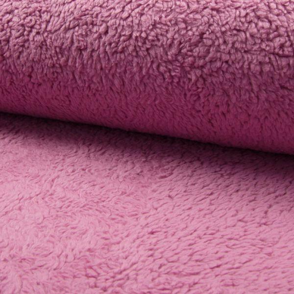 Teddy-Plüsch dunkel pink 150 cm breit