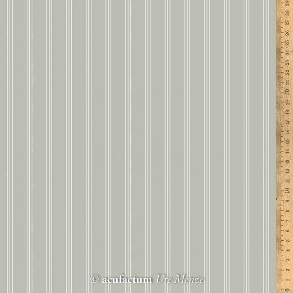 Baumwollstoff Streifen grau  145 cm breit