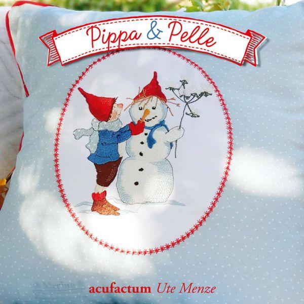 Stickdatei Pelle mit Schneemann