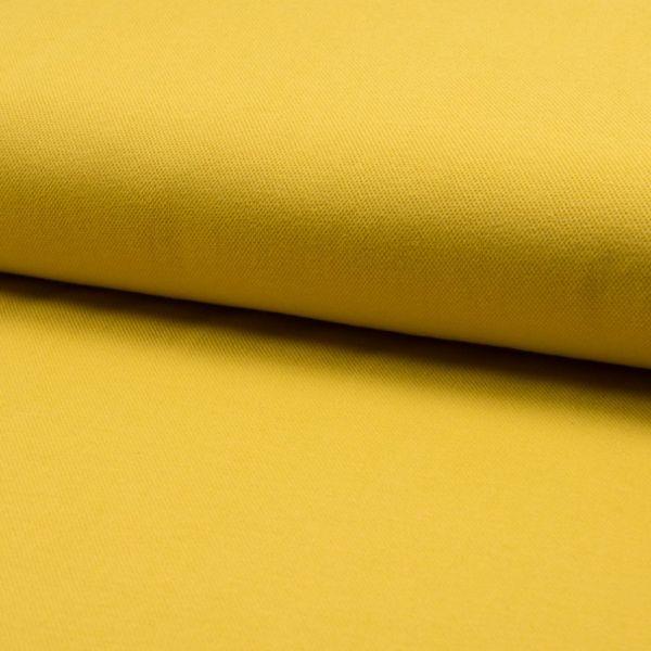 Jersey Pique senfgelb 155 cm breit