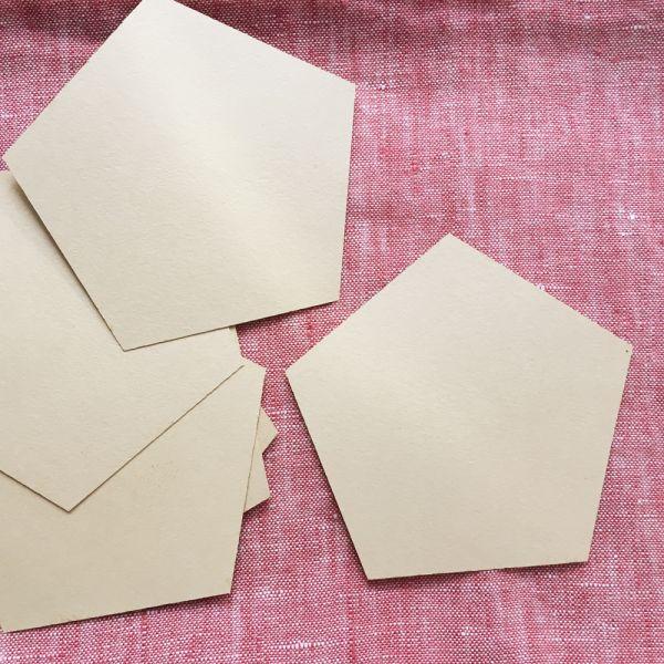 Pentagon Papierschablonen 2 inch