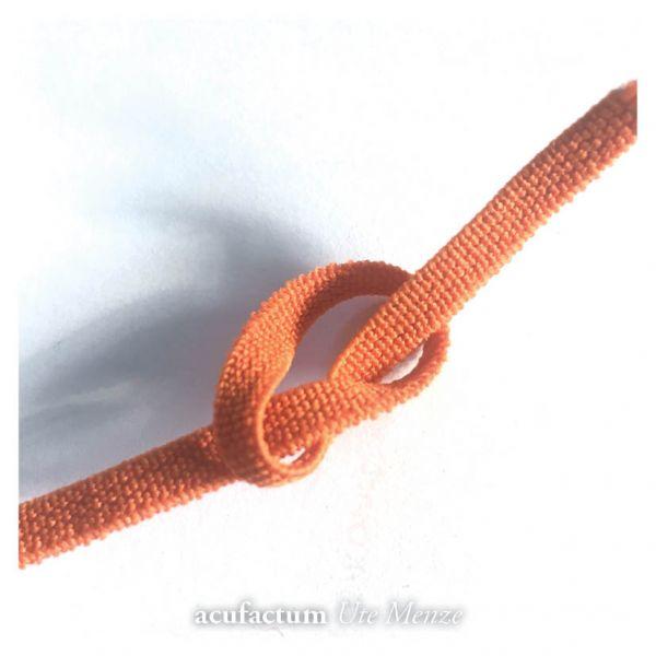 Flachkordel-Gummiband  5 mm orange - 35000-140-07