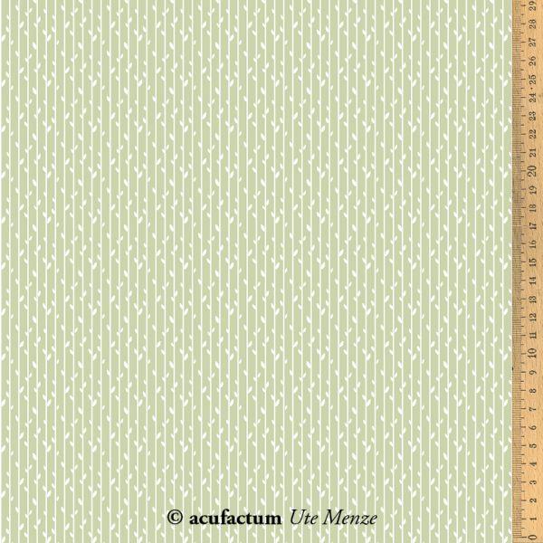 Baumwollstoff Blätterstreifen grün  145 cm breit