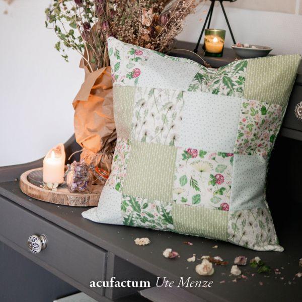 Baumwollstoff Blätterstreifen grün - 3523-793