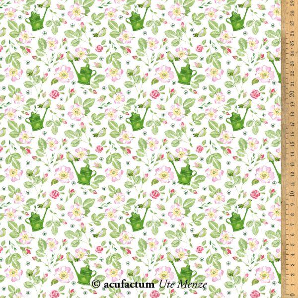 Baumwollstoff Rosengarten - 3523-800