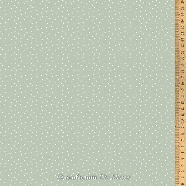 Baumwollstoff Tupfen graugrün-weiß - 3523-808