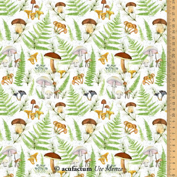 Baumwollstoff Pilze und Farne - 3523-831