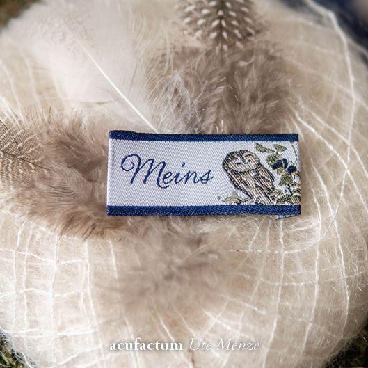 Webetikett Meins Eule - 35337