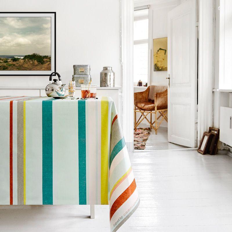 stoff beschichtet 135 cm breit streifen 2 grau mint t rkis. Black Bedroom Furniture Sets. Home Design Ideas