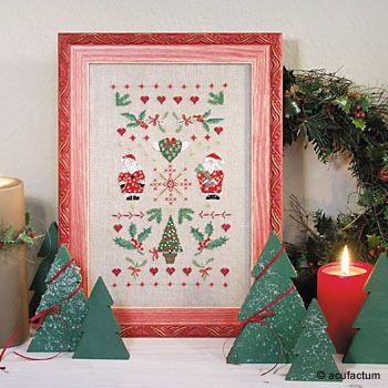 Mustertuch Weihnachten