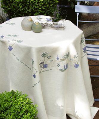 Stickpackung Lavendelträume Tischdecke