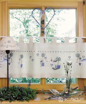 Stickpackung Lavendelträume Gardine