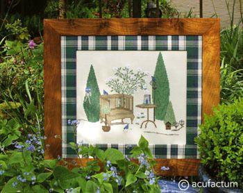 Stickpackung Gartenromantik Bild