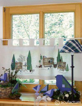 Stickpackung Gartenromantik Gardine