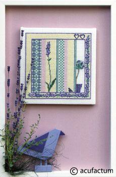 Stickpackung Sommerkaro Lavendel