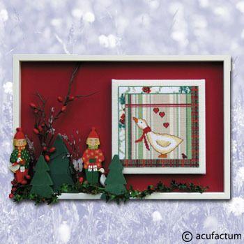 Stickpackung Weihnachtskaro Martinsgans