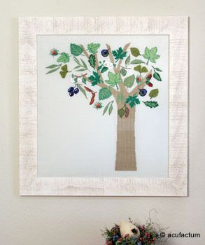 Stickpackung Herbstbaum
