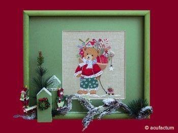 Stickpackung Weihnachtsbär