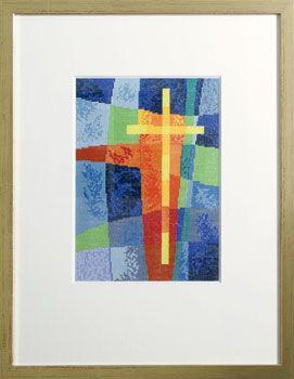 Stickpackung Kreuz im Licht