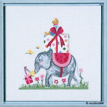 Stickpackung Geburtstagselefant