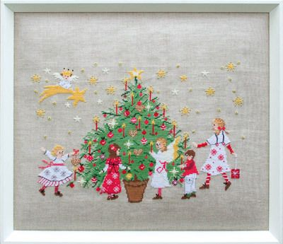 Stickpackung Kinder unterm Tannenbaum