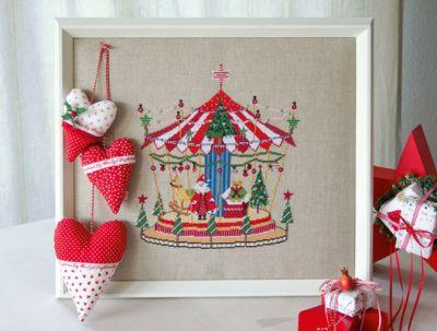 Stickpackung Weihnachtskarussel