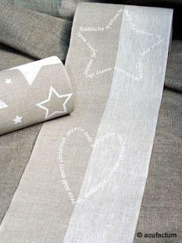 Herzen & Sterne natur-weiß 20 cm breit