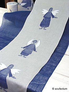 Engel blau 34 cm breit
