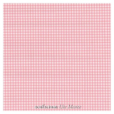 BW-Stoff Karo rosa-weiß