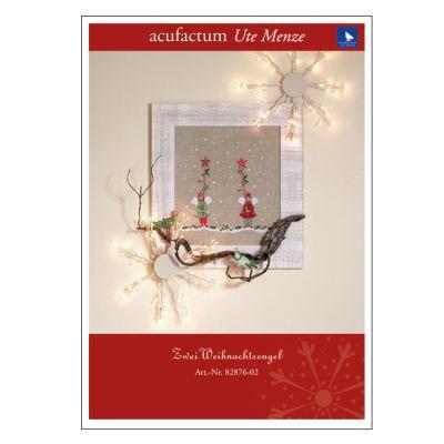 Stickvorlage Zwei Weihnachtsengel